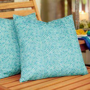 Bay Isle Home Aurora Outdoor Throw Pillow in Aqua